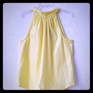 J Crew Yellow Sleeveless shirt